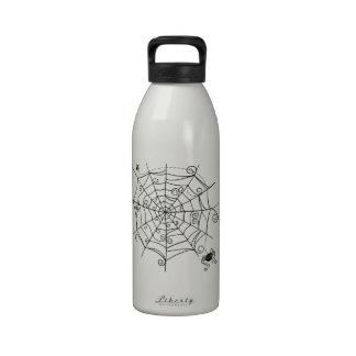 Web de araña botella de agua reutilizable