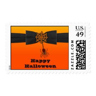 Web de araña anaranjado y negro de Bling Estampillas
