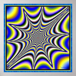 Web de araña de extensión póster