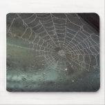 Web de araña de Halloween Mousepad Tapetes De Ratones