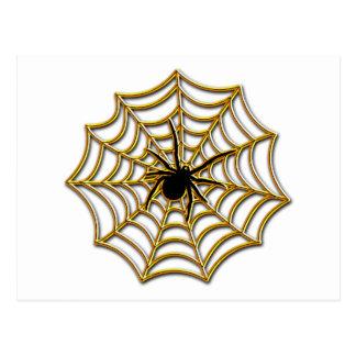 Web de araña de Halloween Tarjeta Postal