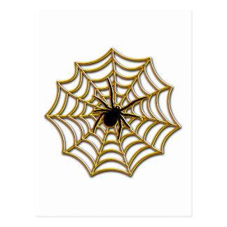 Web de araña de Halloween Postal