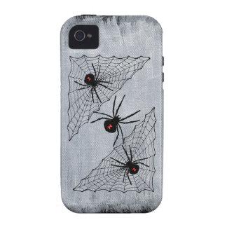 Web de araña de la viuda negra Halloween gótico iPhone 4/4S Funda