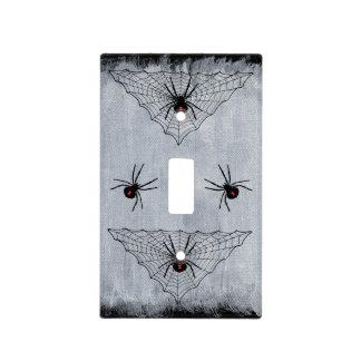 Web de araña de la viuda negra Halloween gótico Placas Para Interruptor