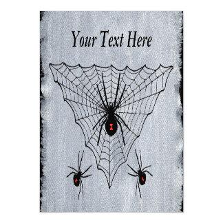 Web de araña de la viuda negra Halloween gótico Invitaciones Magnéticas