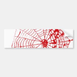 Web de araña el Web del rojo de Zazzle del MUSEO Pegatina De Parachoque