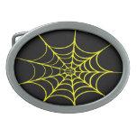 Web de araña espeluznante (negro y amarillo) hebillas de cinturon