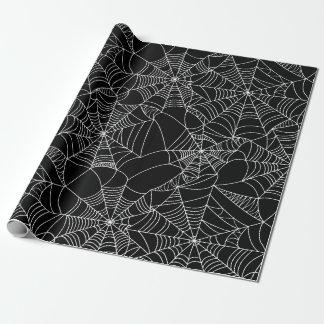 Web de araña espeluznantes papel de regalo