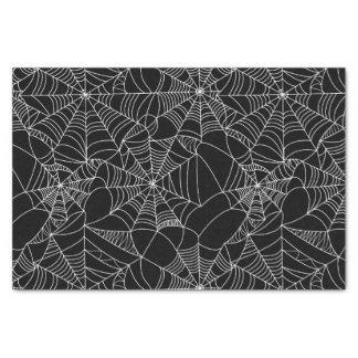 Web de araña espeluznantes papel de seda pequeño