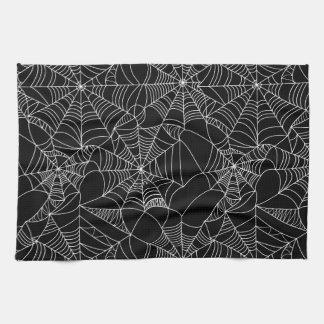 Web de araña espeluznantes toallas de mano