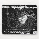 Web de araña gótico del cráneo Mousepad Tapetes De Raton