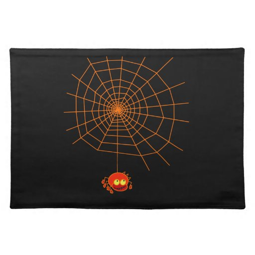 Web de araña Halloween Placemats Mantel Individual