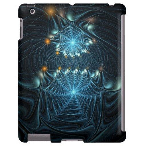 Web de araña metálicos funda para iPad