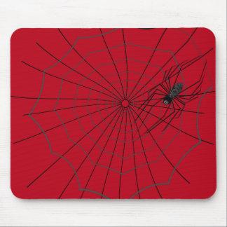 Web de araña Mousepad, rojo oscuro Tapetes De Raton