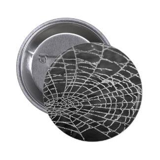 Web de araña pin redondo de 2 pulgadas