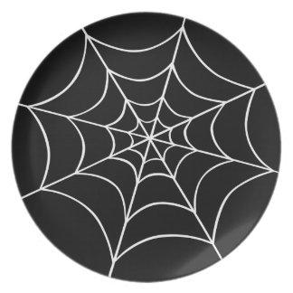 Web de araña plato de cena