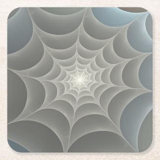 Web de araña posavasos personalizable cuadrado