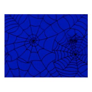 Web de araña, red de la araña, telaraña - negro tarjeta postal