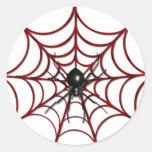 Web de araña roja etiqueta