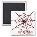 Web de araña roja imán para frigorifico