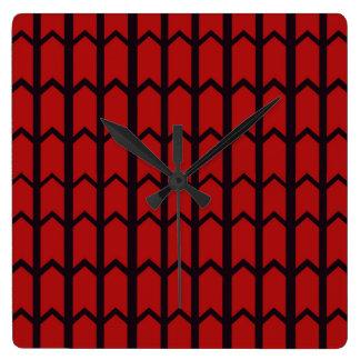 Web de araña roja reloj cuadrado