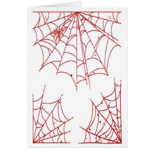 Web de araña roja tarjeta de felicitación