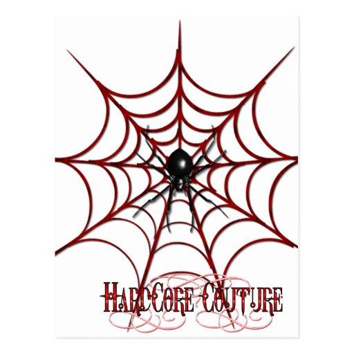 Web de araña roja tarjetas postales