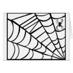 Web de araña tarjeta de felicitación