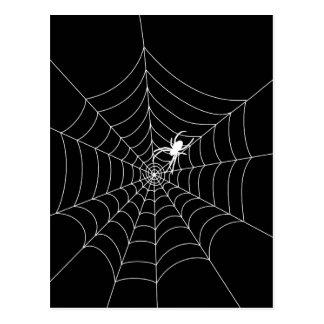 Web de araña tarjeta postal