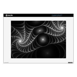 Web de arañas blanco y negro calcomanía para portátil