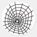 ¡Web de arañas rojas! Pegatina