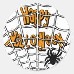 Web de Halloween Pegatina Redonda