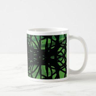 Web de la ceniza taza de café