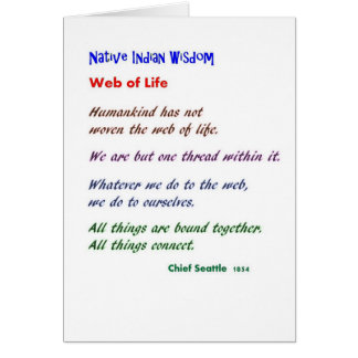 Web de la vida: Sabiduría del nativo americano Felicitaciones