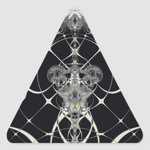 Web de oro calcomanías de trianguloes personalizadas