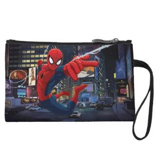 Web de Spider-Man que lanza con una honda con