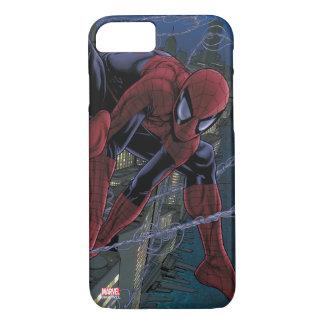 Web de Spider-Man que lanza con una honda de bugle Funda iPhone 7
