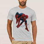 Web de Spider-Man que lanza con una honda de bugle Playera