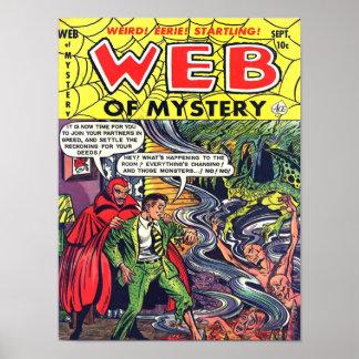 WEB del arte fresco de la cubierta de cómic del vi Póster