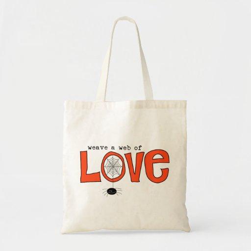 Web del bolso de la invitación del amor bolsas
