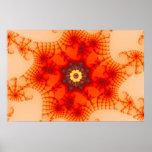 Web del fuego - arte del fractal impresiones