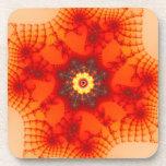Web del fuego - arte del fractal posavaso