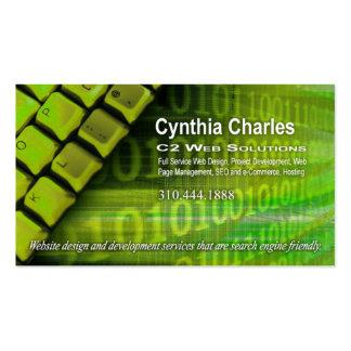 Web Design-1 Business Card template (acid green)