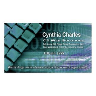 Web Design-1 Business Card template (aqua)
