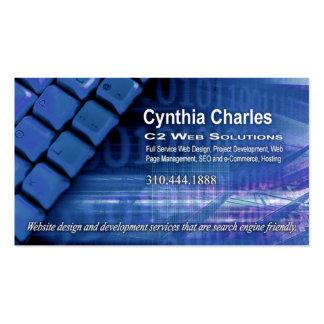 Web Design-1 Business Card template (blue)