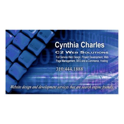 Web Design-1 Business Card template (blue) : Zazzle