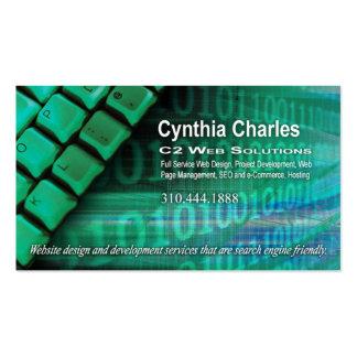 Web Design-1 Business Card template (green)