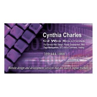 Web Design-1 Business Card template (lilac)