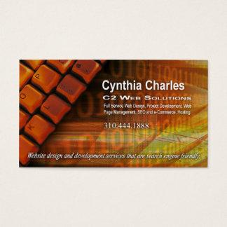 Web Design-1 Business Card template (orange)