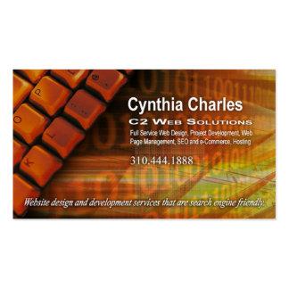 Web Design-1 Business Card template orange